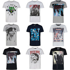 DIESEL GRAPHIC MEN'S T-SHIRT CREW NECK SIZES S M L XL XXL BLACK WHITE GREY NAVY