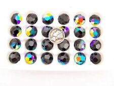 Swarovski 5000 Jet AB Various Sizes Vintage Crystal Beads