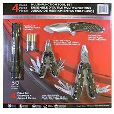 4 Pc Multi-Function Tool Set.50 Lumen Flashlight,Folding Knife,2 Multi-Tools
