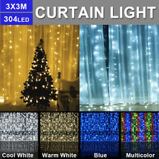 304 LEDs String Curtain Lights Indoor Outdoor Decor Waterfall Window Christmas