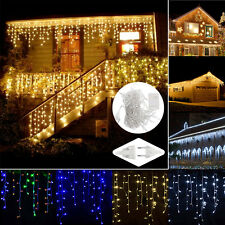 LED Curtain Icicle Wave String Lights Lamp Wedding Party Outdoor Decor Christmas