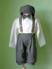 Toddler Boy Knickers Vintage Outfit, Ivory/Brown  Size: 24 Month to 4T
