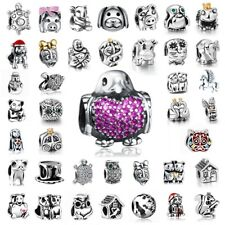 European 925 Silver Charms Animals Bead Fit Sterling Bracelets Necklace Chain