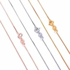 Silver/Gold/Rose Gold Plated for Coin Pendant Necklace Long Bead Chain 400mm Hot