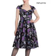 Hell Bunny Black Pinup 50s Goth Dress Muertos GRACIELA Skeletons All Sizes