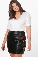 Boohoo Womens Plus Size Alexis Embroidered Stud Mini Skirt