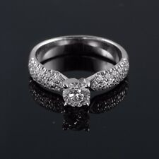 14/18K White Gold 0.57-0.93 CT E VS1 Round Diamond Engagement Ring Enhanced