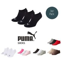 Puma Socks Invisible Sneakers Trainers Ladies, Men's Pack of 3 sizes 35-46 -