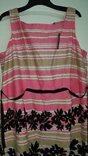 Eloquii by The Limited Size 24W Pretty Pink Black Dress New $99 Party Dress