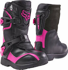 Fox Racing Comp 5K 2017 Youth Kids MX/Offroad Boots Black/Pink