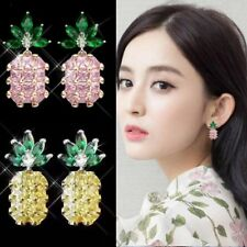 New Women Fashion Lovely Crystal Rhinestone Pineapple Stud Earrings Jewelry Gift