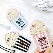 3D ICE CREAM SOFT SILICONE LANYARD PHONE CASE COVER  FOR IPHONE 6 6S PLUS 7 PLUS