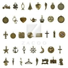 37 style 5-250pcs Lots Antique Brass Spacer Metal Charm Pendant Jewelry Findings