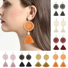 Women Handmade Boho Vintage Knit Tassel Dangle Earrings Fashion Jewelry Gift New