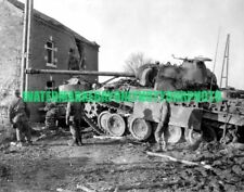 German Panther Tank Photo Military WW2 3rd Armored Division 1944 US ARMY WAR Vet