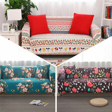 Elastic 100% Cotton L-Shaped Sofa Lounge Couch Cover Protector for 1 2 3 seater