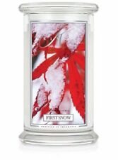 KRINGLE CANDLES First Snow Jar CANDLE 22 oz  Burn Time 100 hrs.