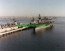 USN USS Coral Sea CV-43 Color Photo Military Navy CGN-26 USS Seattle AOE 3 1988