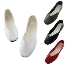 Women's Grils Casual Slip on Flat Solid Summer Shoes Ladies Loafers Ballet Shoes