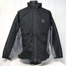 NEW John Daly Golf Rain Suit Jacket Pant Waterproof Black Grey - Choose Size!