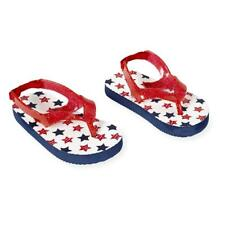 Koala Kids Red/White/Blue Star Print Flip Flops