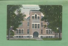HIGH SCHOOL In WORCESTER, NY On Vintage 1908 Postcard