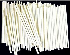 "6"" x 5/32"" Rolled Paper Sticks For Lollipop Cake Pop or Sucker Candy Made in USA"