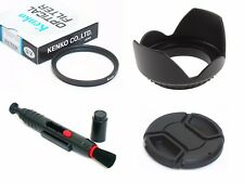 NY5 49mm Lens Hood Cap Cleaning Pen UV Filter For DSLR Digital Camera Camcorder