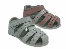 Girls Shoes Surefit Bug Covered Toe Pink or White Leather Sandal UK Size 4-9 New