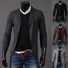 Stylish Mens Knitted Sweater Cardigan Suit Coat Slim Fit Jackets Solid Jumpers