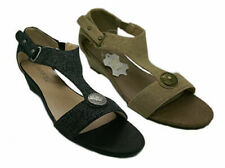 Ladies Shoes Wedges Grosby Samantha Black or Taupe Size 5-10 Wedge Sandals New