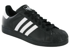 Adidas Superstar 2 Trainers Leather Black White Mens Sports Fashion G17067
