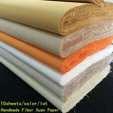 10pcs Chinese Rice Paper Long Fiber Xuan Paper Calligraphy Painting Handmade TY