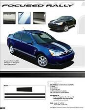 RALLY Hood Rocker Stripes Decals 3M Graphics (3M Vinyl) for Ford Focus