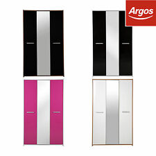 HOME New Sywell 3 Door Mirrored Wardrobe - Choice of Colour -From Argos on ebay