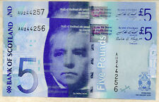 2009  bank of scotland £5 five pound banknotes UNC real scottish money