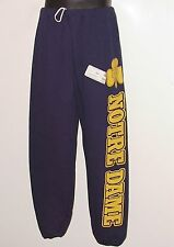 Vintage 80s/90s Notre Dame FIGHTING IRISH SWEAT PANTS Dodger NWT NEW Old Stock