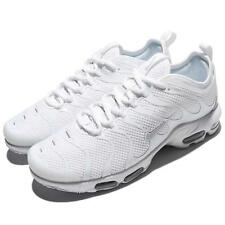 Nike Air Max Plus Tn Ultra Triple White Mens Running Shoes Sneakers 898015-102