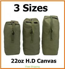 New Heavy Duty Canvas Military Army Duffle Bag Outdoor Sports Rucksack 3 Sizes