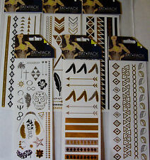 NEW TEMPORARY METALLIC TATTOOS *Your Choice Design* Body Jewelry Chains TATTOOS