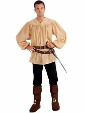 Mens Beige Medieval Shirt  - Costume Accessory