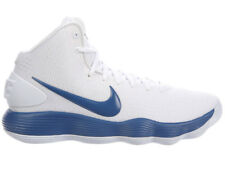 NEW MENS NIKE REACT HYPERDUNK 2017 BASKETBALL SHOES TRAINERS WHITE / COURT BLUE