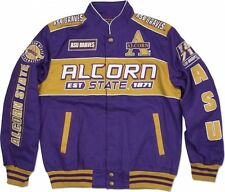 Alcorn State Braves S11 Mens NASCAR Racing Twill Jacket