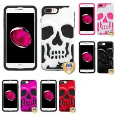 For Apple iPhone 8 Plus Hybrid Skull Skeleton Impact Hard Soft Case Cover