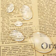 5 Size Oval Glass Cabochon Dome FlatBack Crystal Magnify Base Cover Jewelery DIY