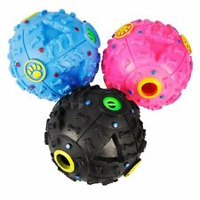 Pet Dog Tough Treat Training Chew Sound Activity Toy Squeaky Giggle Ball Toy