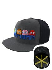 Pac-Man Characters Embroidered Snapback Cap