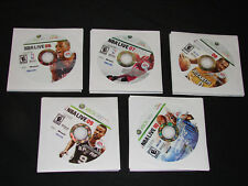 Lot of 5 NBA Basketball XBOX 360 games - NBA LIVE 06,07,08,09 & 10  ***WOW***
