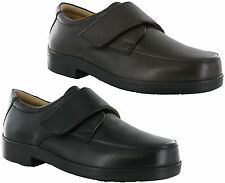 Roamers Extra Wide EEE Fit Leather Lightweight Adjustable Mens Shoes UK6-14