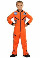 Child Orange Astronaut Jumpsuit Costume